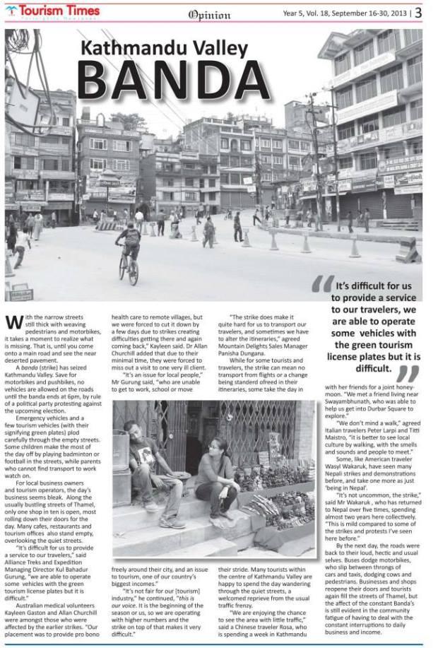 Kathmandu Valley banda